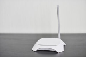 WiFi wireless router, copy space.